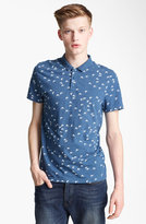 Topman Bird Print Polo