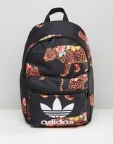 adidas X Farm Multi Leopard Print Backpack With Trefoil Logo
