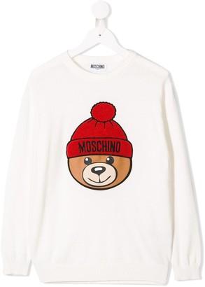 MOSCHINO BAMBINO Bear Logo Jumper