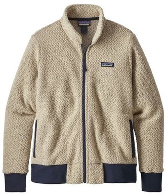 Patagonia Womens Woolyester Fleece Jacket Oatmeal Heather - XS