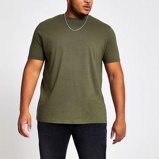 River Island Big and Tall khaki regular fit T-shirt