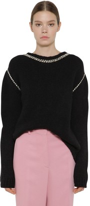 Rochas Embellished Alpaca Blend Knit Sweater