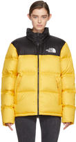The North Face Yellow and Black Down Novelty Nuptse Jacket