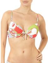 Puzzle Flowers padded bikini top