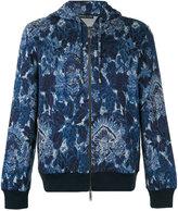 Etro floral print zipped hoodie - men - Cotton/Polyamide - M