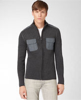 Calvin Klein Jeans Sweater, Military Zip Ribbed Sweater