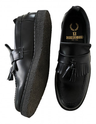 Fred Perry Black Leather Flats