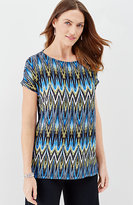 J. Jill Wearever Lightweight Print Poncho Top