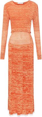 CHRISTOPHER ESBER Convertible Mesh-Detailed Knit Maxi Dress