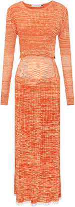 Christopher Esber Deconstructed Mesh Knit Dress
