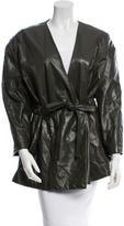 ADAM by Adam Lippes Leather Drawstring Jacket w/ Tags