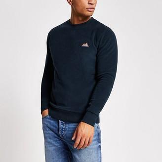 Jack and Jones Navy Fleece Sweatshirt