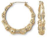 JCPenney Gold Earrings, 10K Bamboo Textured 42mm Hoop