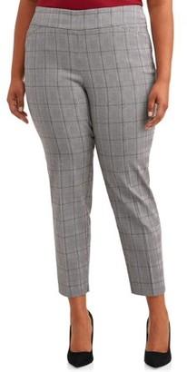 Terra & Sky Women's Plus Size Dress Pant with Stretch