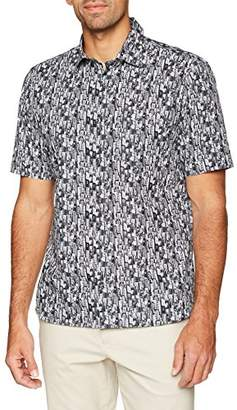 Signum Men's 181510177 Casual Shirt, (Black 999), (Size: Large)
