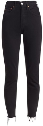 RE/DONE High-Rise Ankle Crop Comfort Stretch