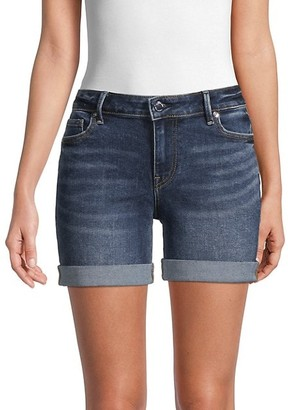 Jayde Rolled-Cuff Denim Shorts
