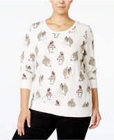 Style&Co. Style & Co. Plus Size Squirrel Graphic Sweatshirt Top, Only at Macy's