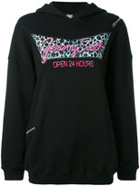 Jeremy Scott oversized printed hoodie - women - Cotton - 38