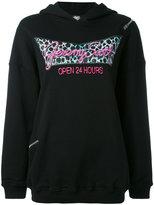Jeremy Scott oversized printed hoodie