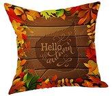 "Hot Sale!!18"" x 18"" Happy Fall Thanksgiving Day Linen Pillow Cushion Home Decor Cushion Case Turkey (A)"