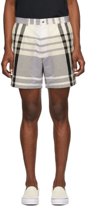 Noah NYC Black and White Check Madras Shorts