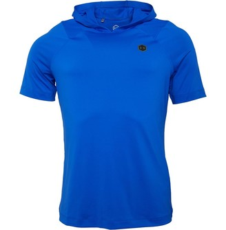Under Armour Mens Rush Short Sleeve Hoodie Blue