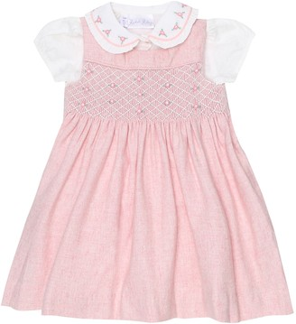 Rachel Riley Baby wool-blend blouse and pinafore set