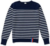 Kule The Sophie Cashmere Sweater - Navy/Cream