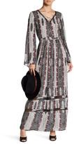 En Creme Printed Long Sleeve Maxi Dress