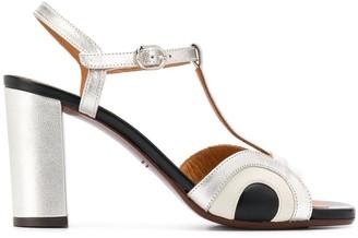 Chie Mihara Banela 90mm metallic-print sandals