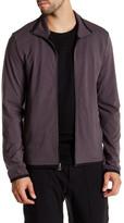 James Perse Funnel Neck Zip Up Performance Jacket