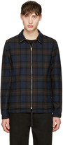 Noah Reversible Black Plaid Coaches Jacket