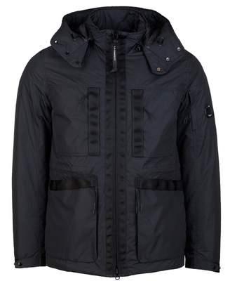 C.P. Company Down Arm Lens Hooded Jacket Colour: BLACK, Size: MEDIUM