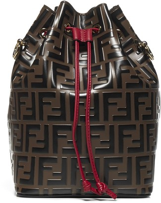 Fendi Mon Tresor Ff Logo Calfskin Buckle Bag