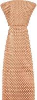 Notch Men's Knitted Slim Necktie - JULIEN - Light moss knitted silk