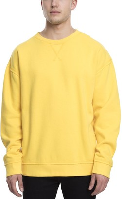 Urban Classics Men's Oversized Open Edge Crew Sweatshirt