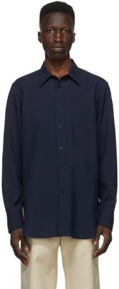 Jil Sander Navy Wool Fine Canvas Shirt