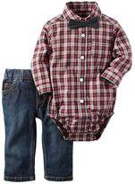 Carter's Baby Boy Button-Down Plaid Bodysuit & Jeans