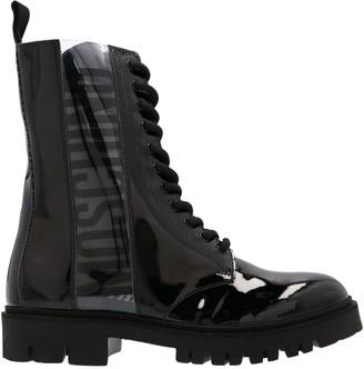 Moschino Logo Combat Boots