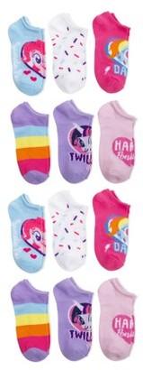 My Little Pony Girls Socks, 12 Pack No Show (Little Girls & Big Girls)