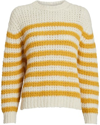 Mother The Striped Alpaca-Blend Sweater