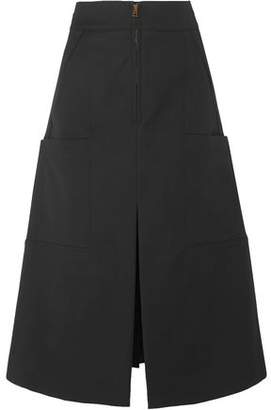 Chloé Flared Stretch-cotton Midi Skirt