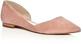 Marc Fisher Sunny Suede Pointed Toe d'Orsay Flats