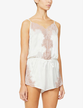 Nk Imode Aurora Forever silk-satin and lace playsuit