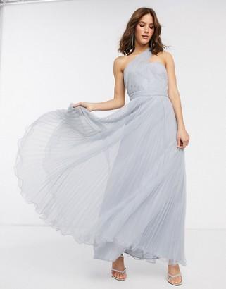 Asos Design DESIGN one shoulder tulle wired hem maxi dress