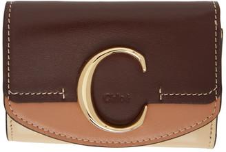 Chloé Brown Small C Tri-Fold Wallet