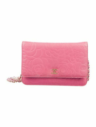 Chanel Camellia Wallet On Chain Fuchsia
