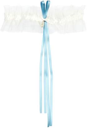 Simone Perele Wish Ribbon-embellished Tulle Garter
