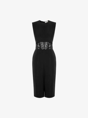Alexander McQueen Lace Corset Pencil Dress
